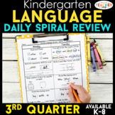 Kindergarten Language Spiral Review | Grammar Practice | 3