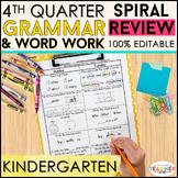 Kindergarten Language Arts Review | Kindergarten Grammar Practice | 4th Quarter