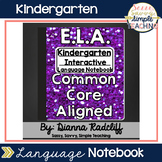 Kindergarten Language Interactive Notebook {CCSS Aligned}