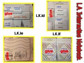 Kindergarten Language Interactive Notebook {CCSS Aligned}