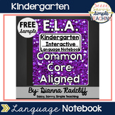Kindergarten Language Interactive Notebook: Freebie Sample {CCSS Aligned}