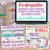 Kindergarten Language Math evidence of growth bundle