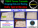 Kindergarten Language & Reading Daily Spiral Review: 1st Six Weeks- TEKS Based