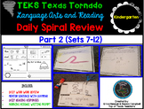 Kindergarten Language & Reading Daily Spiral Review: 2nd Six Weeks- TEKS Based