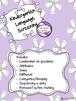 Kindergarten Language Screening Kit