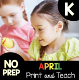 Kindergarten Daily Review Worksheets - Distance Learning H
