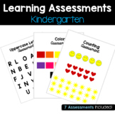 Kindergarten Learning Assessments