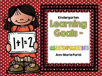 Kindergarten Learning Goals Mathematics