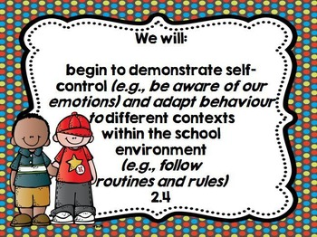 Kindergarten Learning Goals Personal and Social Develoment