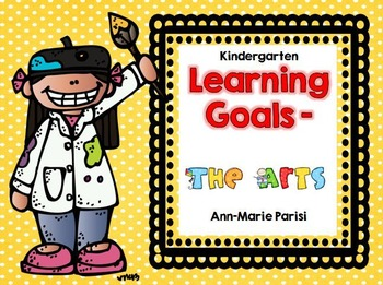 Kindergarten Learning Goals The Arts