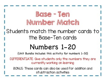 Kindergarten Learning Numbers 1-30 Lessons and Centers Bundle Sample