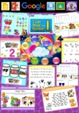 Kindergarten Learning Numbers 1 to 3 Smart Notebook and Unit of Work Bundle 1