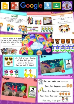 Kindergarten Learning Numbers 3 to 5 Smart Notebook and Unit of Work Bundle 1