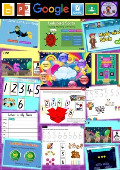 Kindergarten Learning Numbers 5 to 6 Smart Notebook and Unit of Work Bundle 1