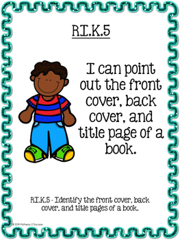 "Kindergarten Learning Objectives - ""I can"" Posters"