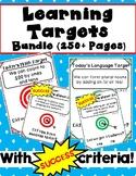 Kindergarten Learning Targets Bundle with Success Criteria