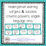 Kindergarten Learning Targets & Success Criteria Posters: English Language Arts