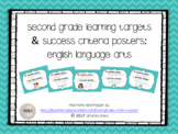 Second Grade Learning Targets & Success Criteria Posters: