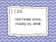 Kindergarten Learning Targets for the ENTIRE YEAR! (Common Core)