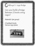 Kindergarten Lego Bridge STEM Challenge