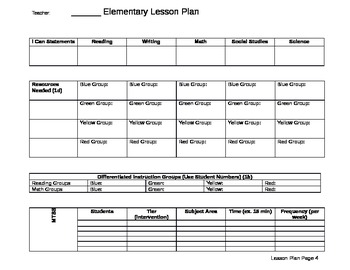 Kindergarten Lesson Plan (CCSS)