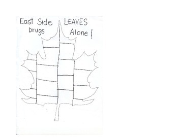 Kindergarten Lesson Plan: October Say No to Drugs / LEAVES Drugs Alone