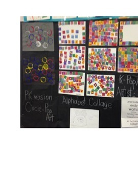Kindergarten Lesson Plan: Pop Art by Andy Warhol and Alphabet Collage