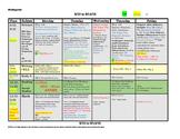 Kindergarten Lesson Plan Template: 1 Week, 1 Glance + Comm