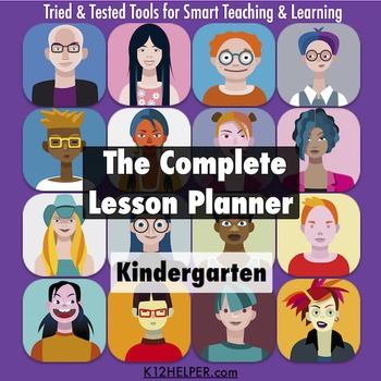 Kindergarten Lesson Plan Template: All Subjects w/ Common