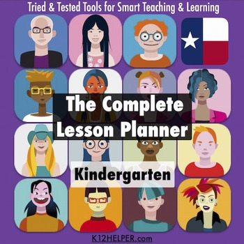 Lesson Plan Template Kindergarten All Subjects W All Texas Teks