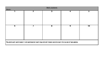 Kindergarten Lesson Plan Template (Editable)