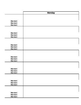 kindergarten lesson plan template michigan standards tpt