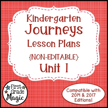 Journeys Kindergarten Lesson Plans Unit 1