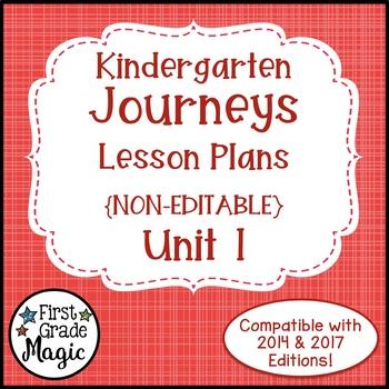 Journeys Kindergarten Lesson Plans Unit 1