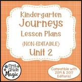 Journeys Kindergarten Lesson Plans Unit 2