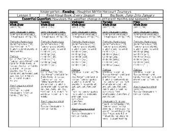 Journeys Kindergarten Lesson Plans Unit 3