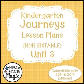 Kindergarten Lesson Plans Journeys Unit 3