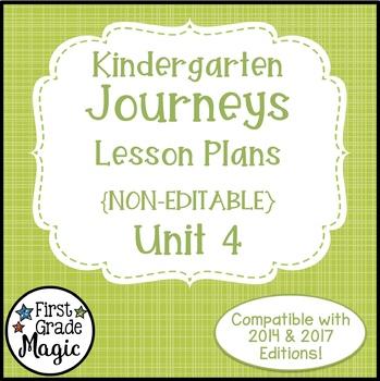 Journeys Kindergarten Lesson Plans Unit 4