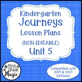 Journeys Kindergarten Lesson Plans Unit 5