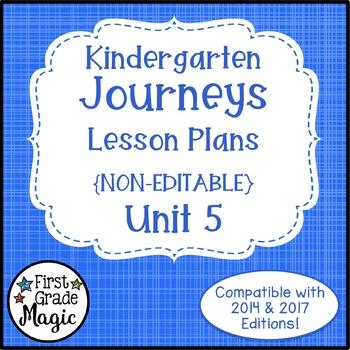 Journeys Kindergarten Lesson Plans Unit 5