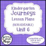 Journeys Kindergarten Lesson Plans Unit 6