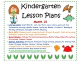 Kindergarten Lesson Plans - Month 10 - Common Core Aligned