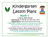 Kindergarten Lesson Plans - Month 3 - Common Core Aligned -GBK