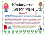 Kindergarten Lesson Plans - Month 7 - Common Core Aligned -GBK