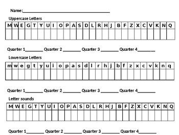 Kindergarten Letter Assessment