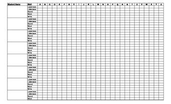 Kindergarten Letter Assessment Checklist