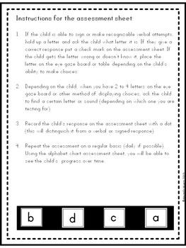 Alphabet Assessment Kindergarten