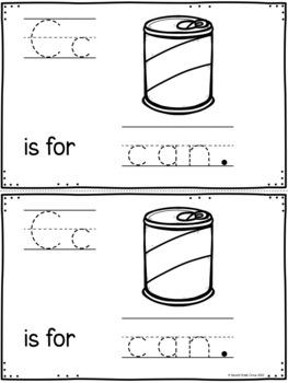 Kindergarten Letter Books