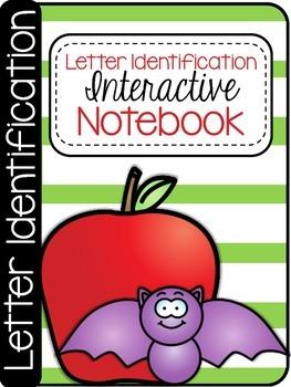 Kindergarten Letter Identification Interactive Notebook