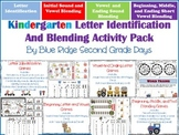 Kindergarten Letter Identification and Blending Activity Pack